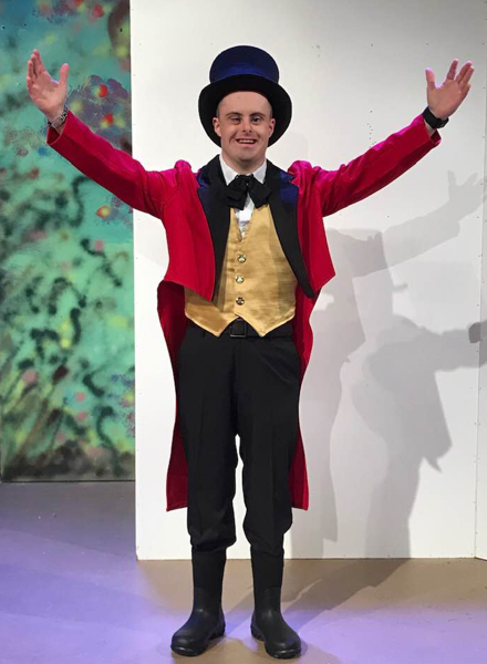 """Mitchell Reaume- actor, Ringmaster in movie """"Not Ready""""."""