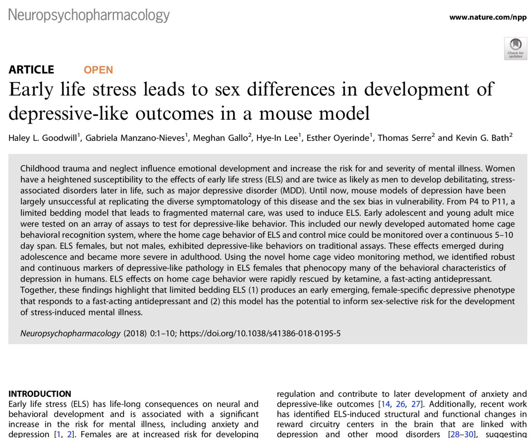 Goodwill et al., 2018.   Neuropsychopharmacology.
