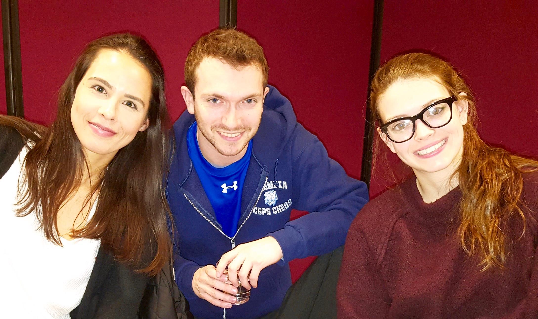 Karsten, Grandmaster Marc Arnold, and Nicole