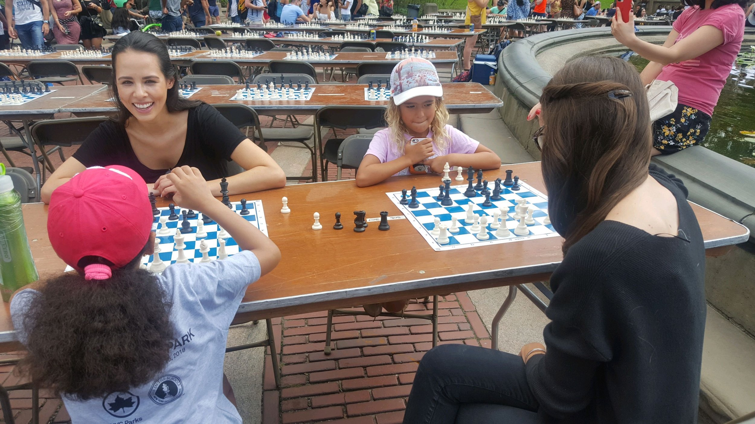 Enjoying the 18th annual Chess-in-the-Park