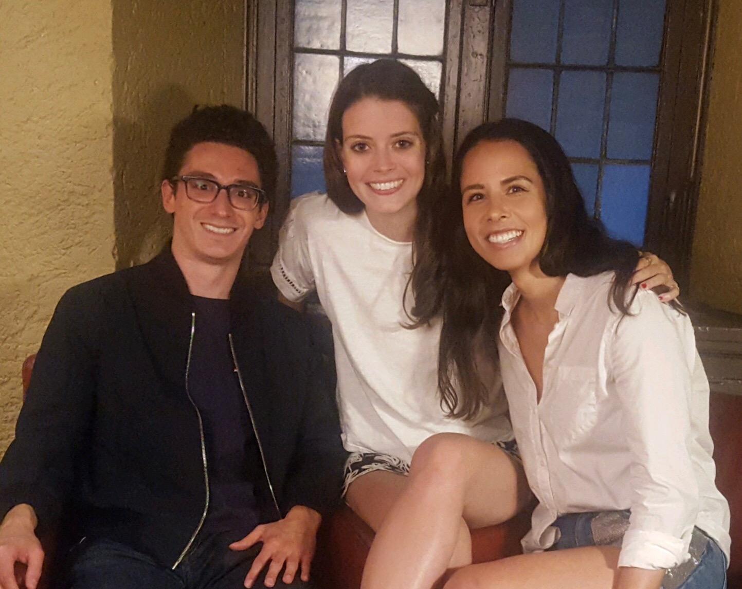 Grandmaster Fabiano Caruana, Nicole, and Karsten