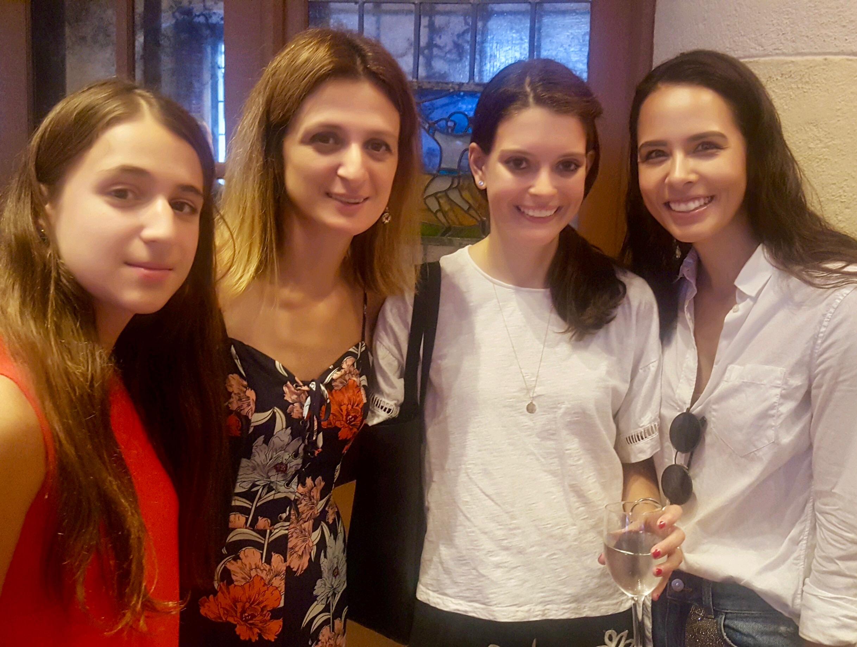 Rusa's daughter, International Master and Woman Grandmaster Rusa Goletiani, Nicole, and Karsten