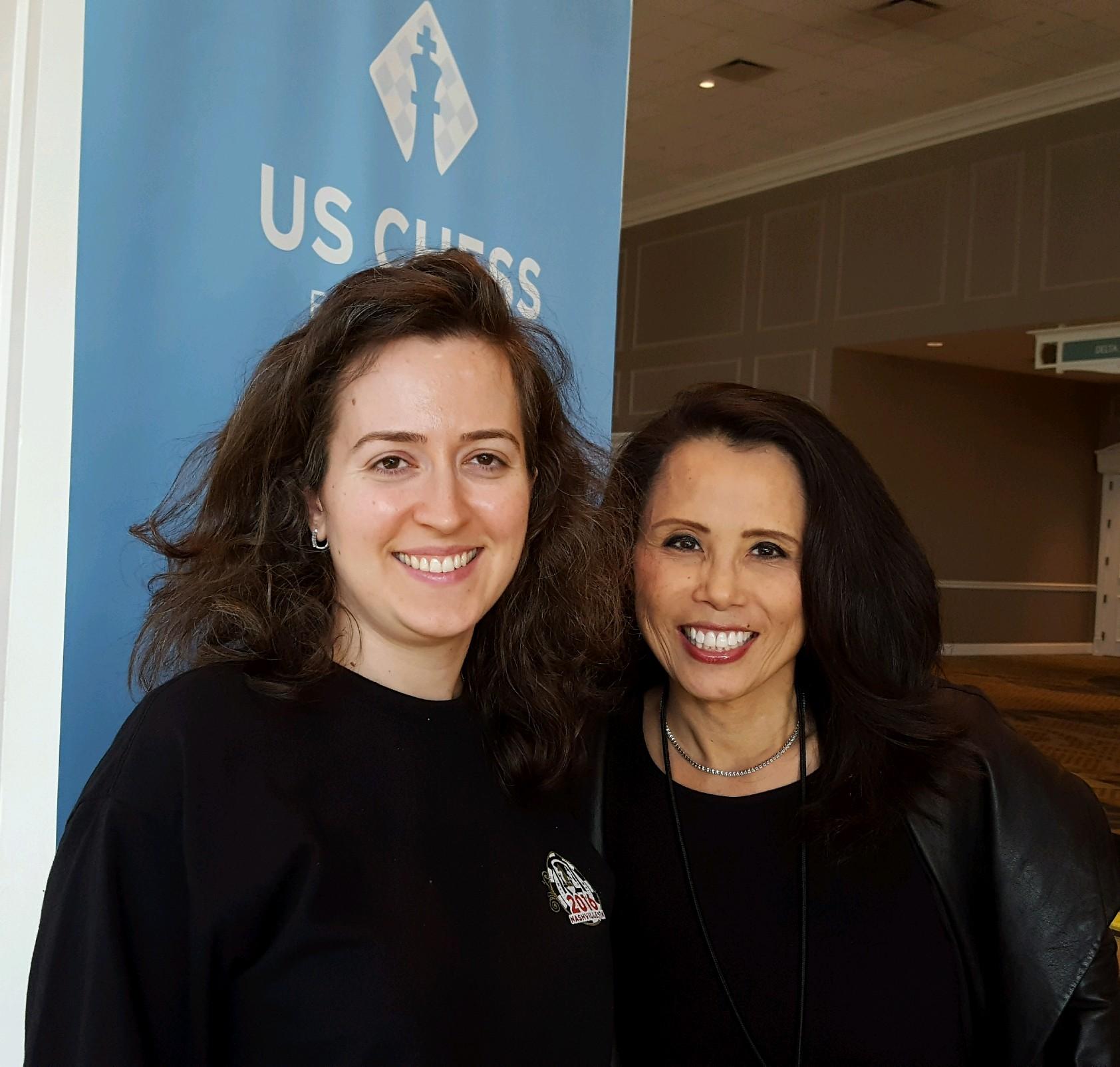 Grandmaster Irina Krush and VP Kimberly