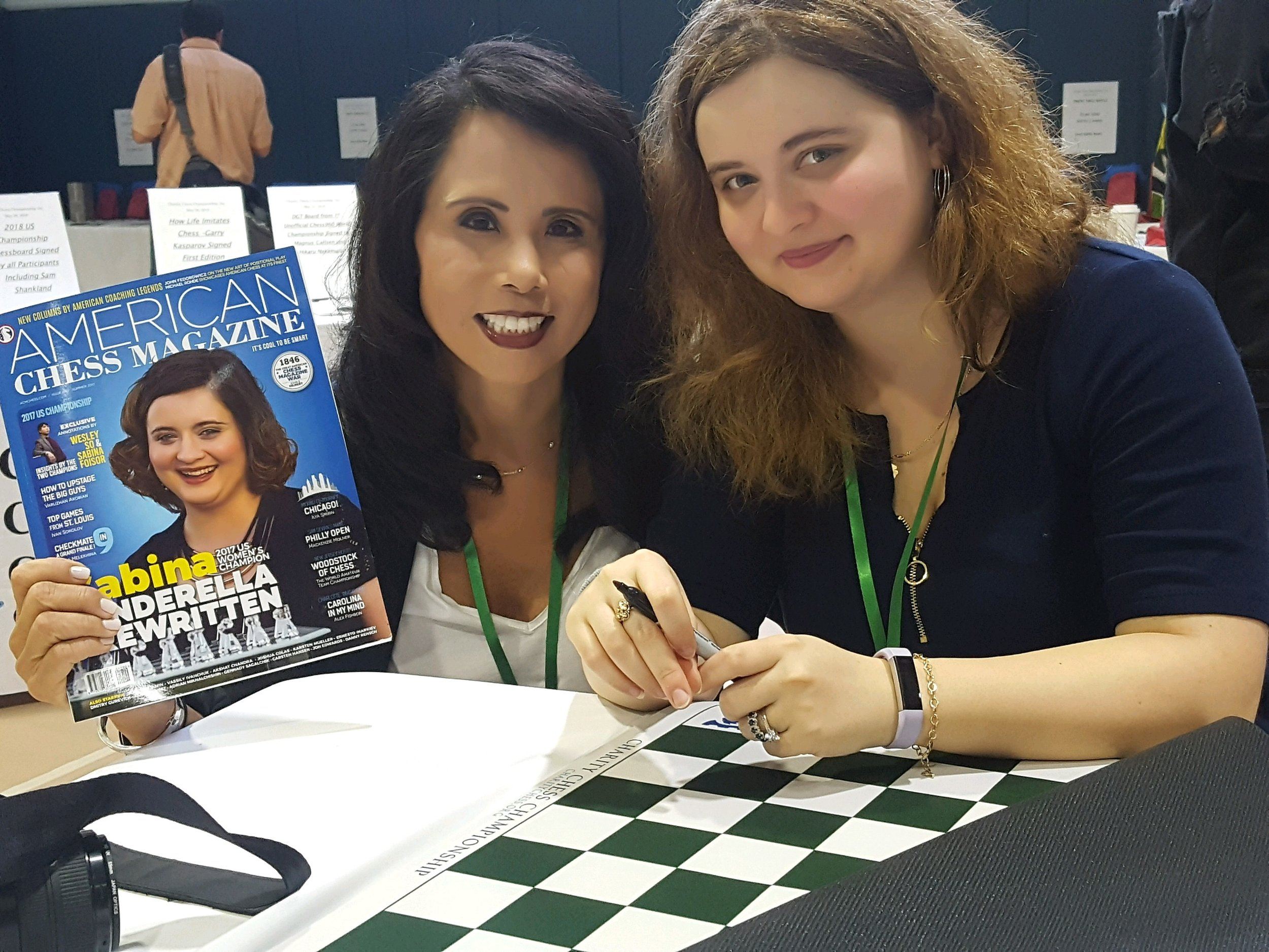 VP Kimberly and Woman Grandmaster Sabina Foisor