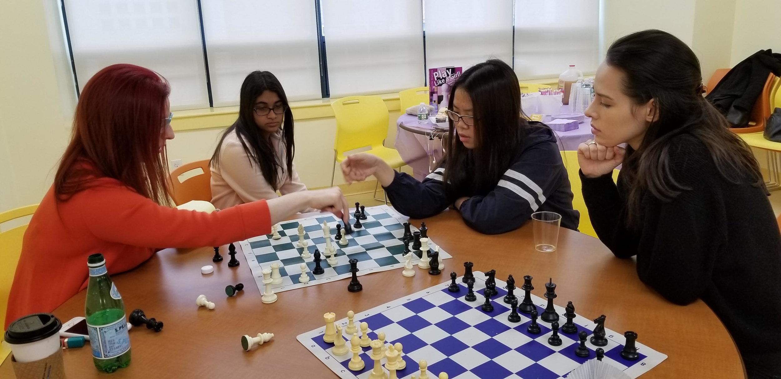 Woman Grandmaster and former U.S. Women's Champion Jennifer Shahade analyzes at Magnus League