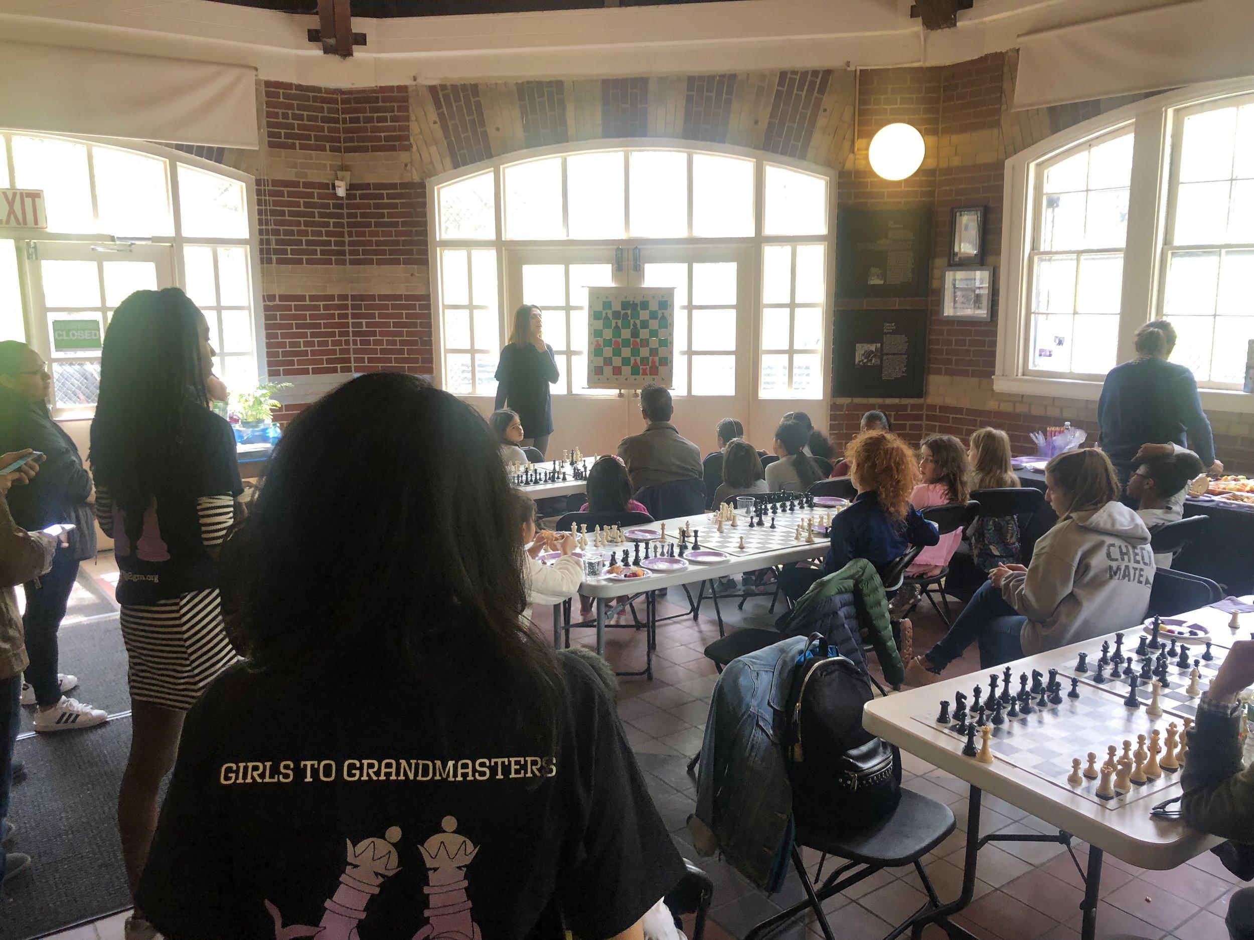 Woman Grandmaster Rusa Goletiani teaches Girls To Grandmasters