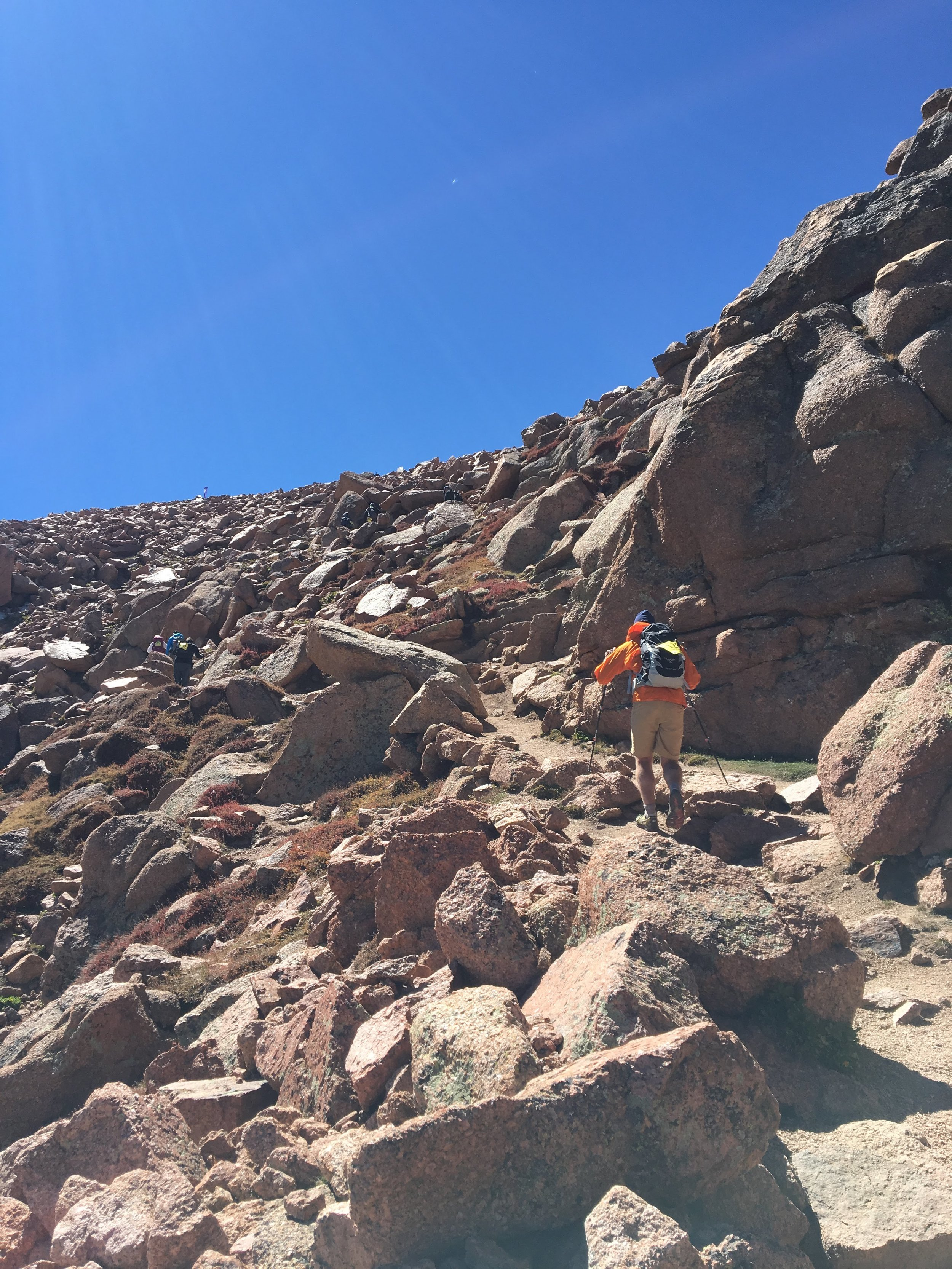 Making our way towards the summit of Pikes Peak (September 2016).