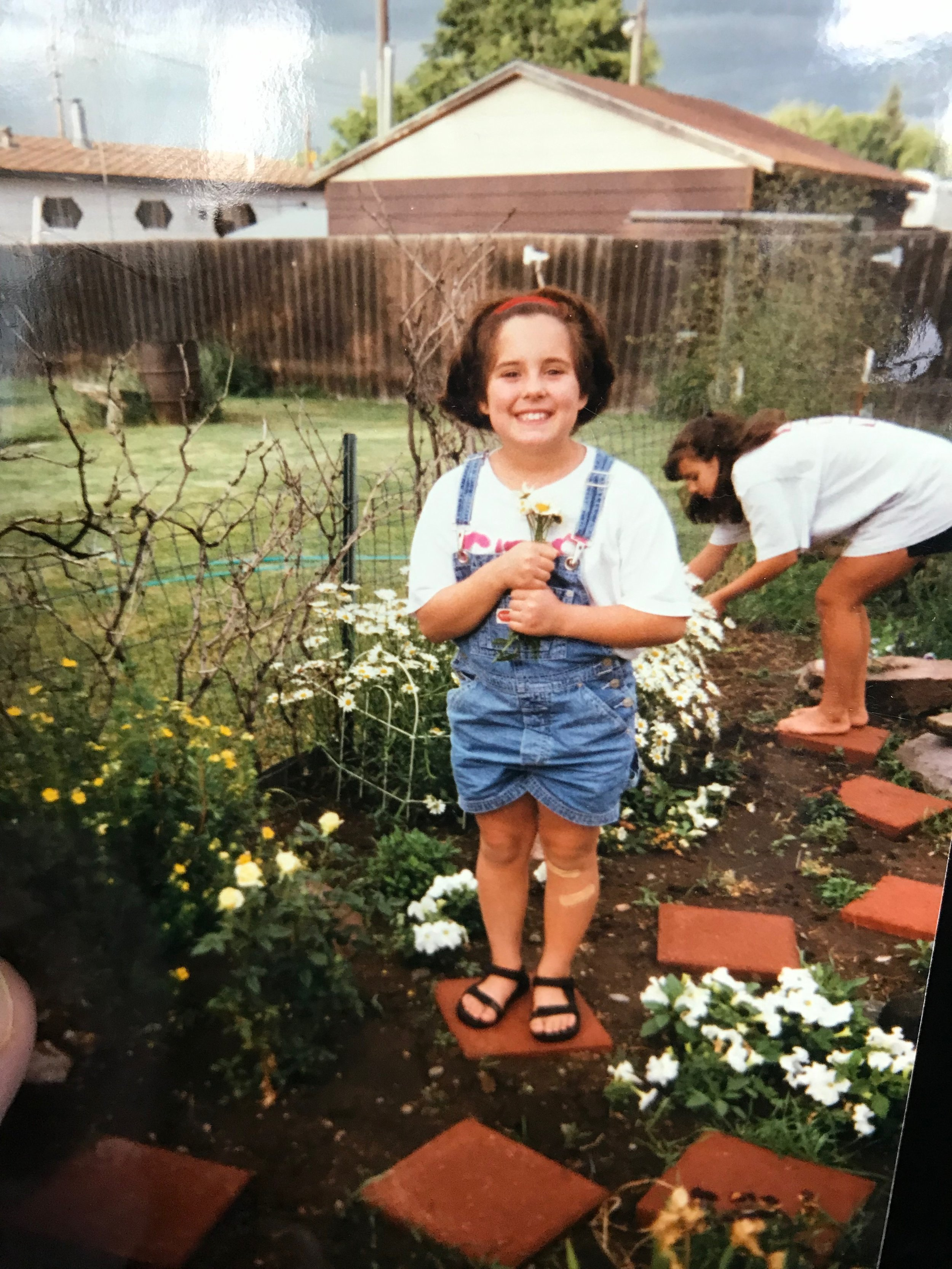 This was when spaghetti was my friend (and so were overalls, apparently).