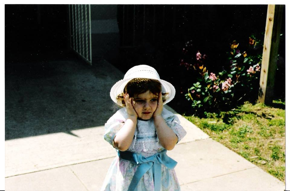 Baby Tara. Very distressed about something. Maybe I'm foreseeing the anxieties of adulthood.