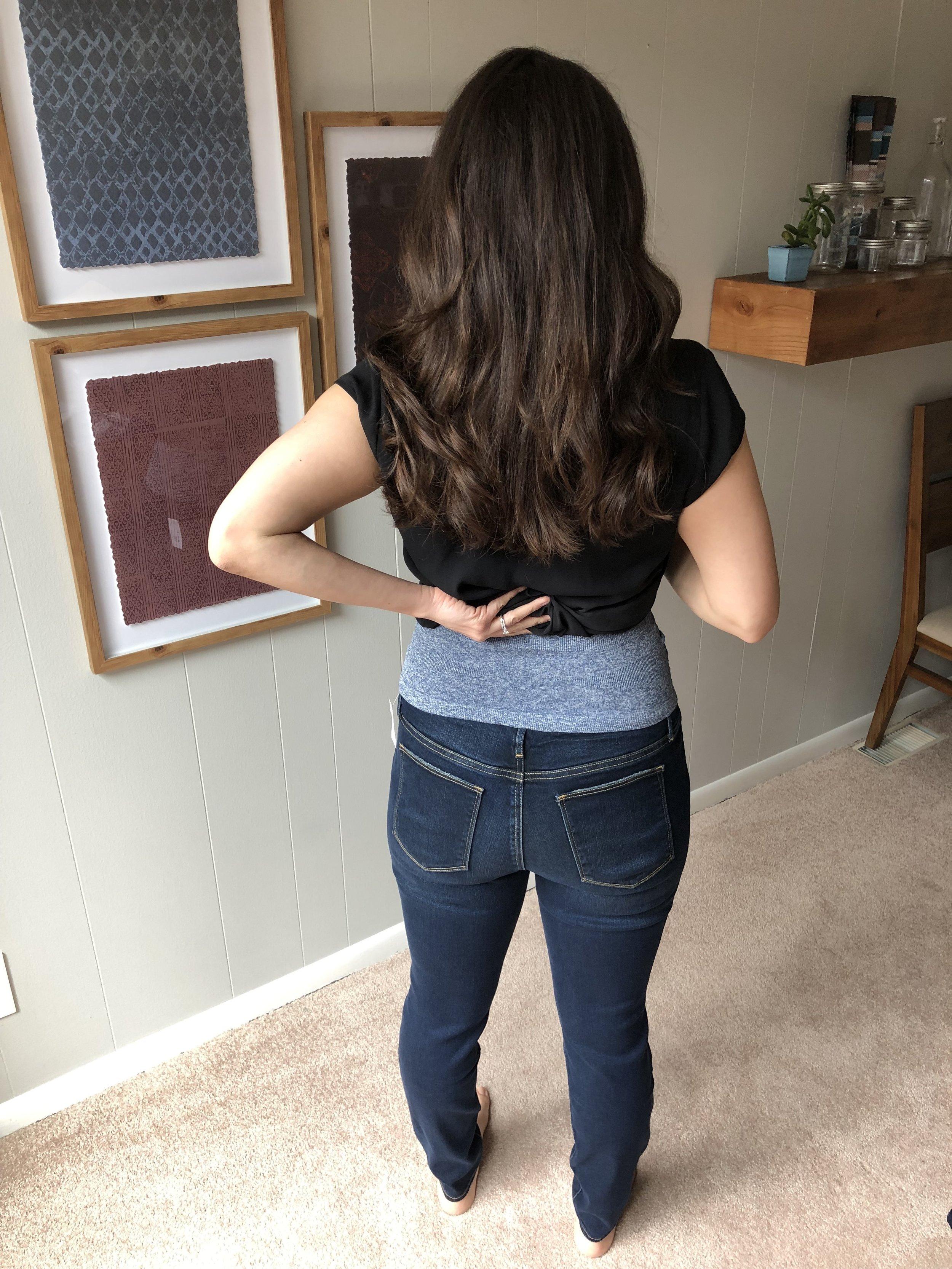46bf39920a4b4 GAP Maternity Soft Wear Comfort Panel True Skinny Jeans, medium wash