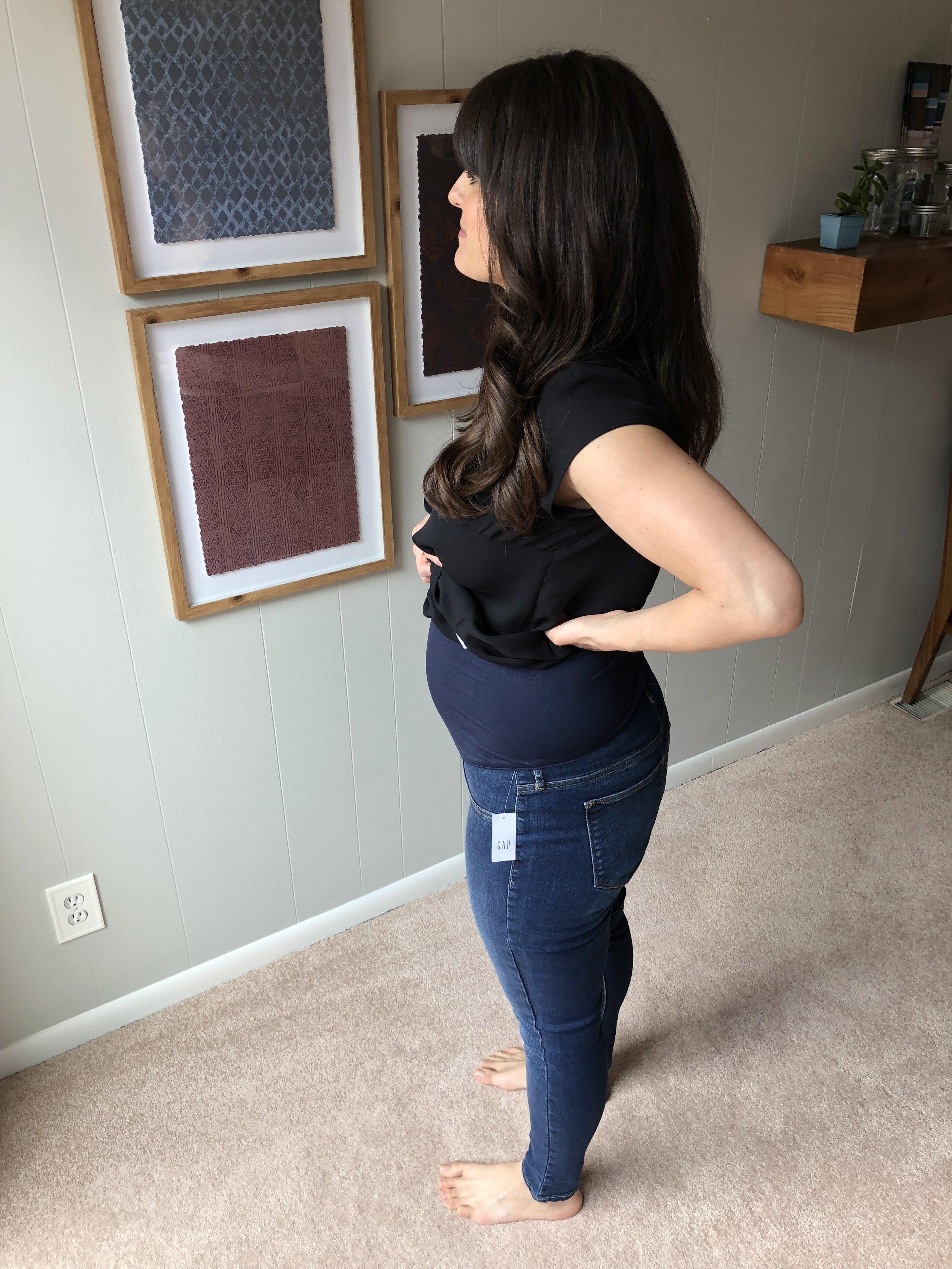 GAP Maternity Full Panel Favorite Ankle Jeggings, Dark Indigo