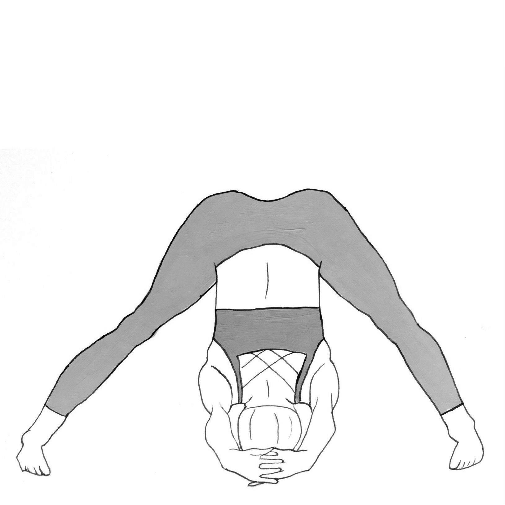 Wide-Legged Forward Bend C - Prasarita Padottanasana C