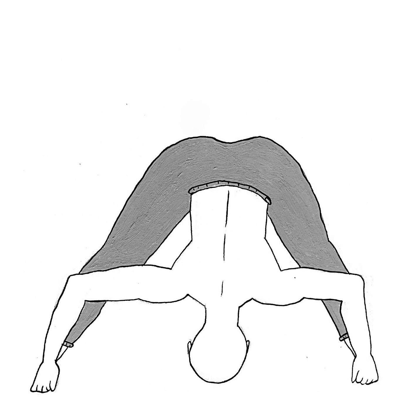 Wide-Legged Forward Bend D - Prasarita Padottanasana D