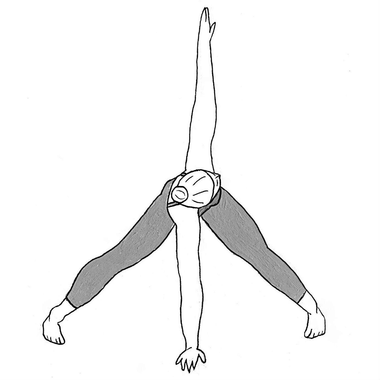 Wide-Legged Forward Bend Twist - Parivritta Prasarita Padottanasana
