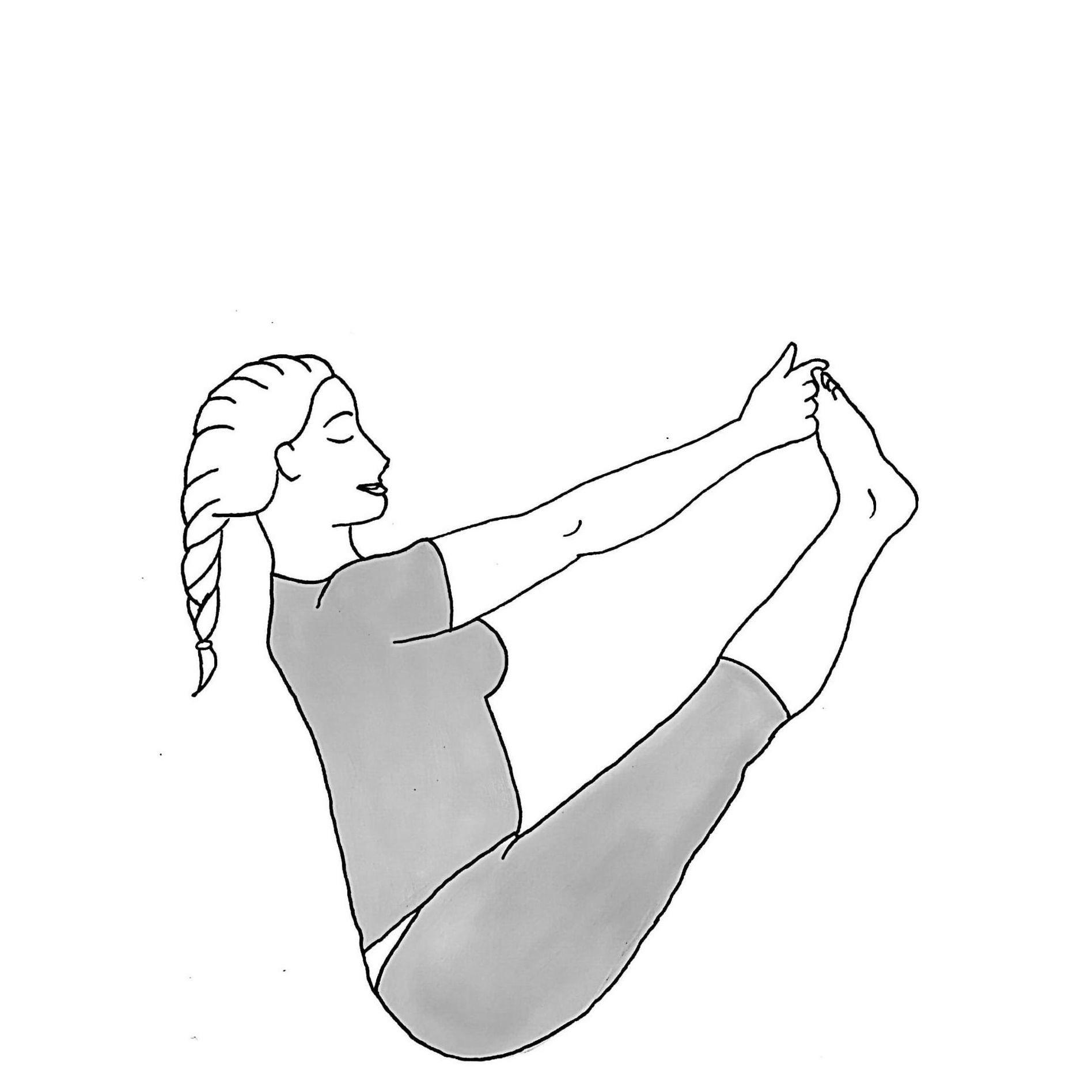 Both Feet Big Toe Pose - Ubhaya Padangusthasana
