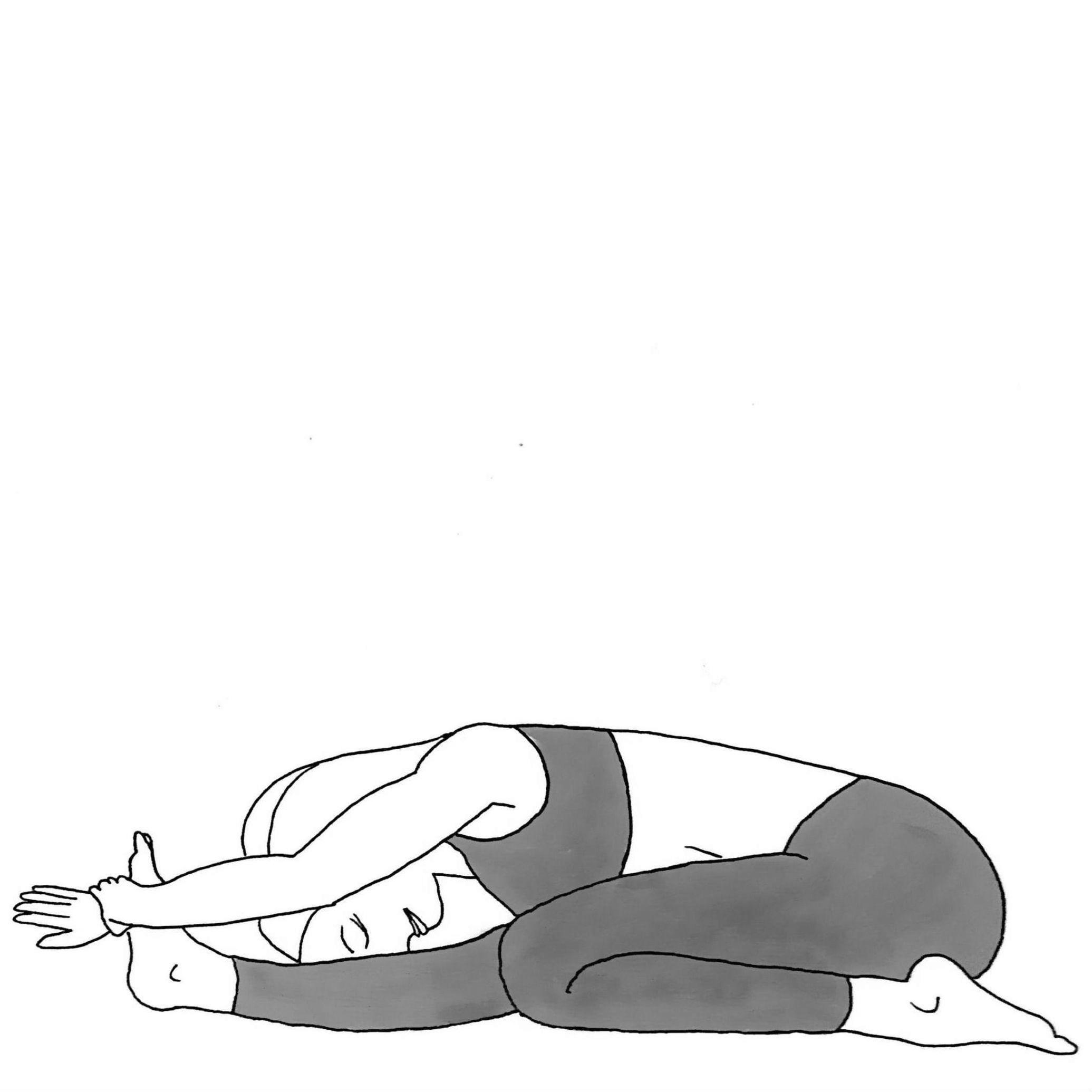 Three Limb Forward Fold - Trianga Mukhaikapada Paschimottanasana