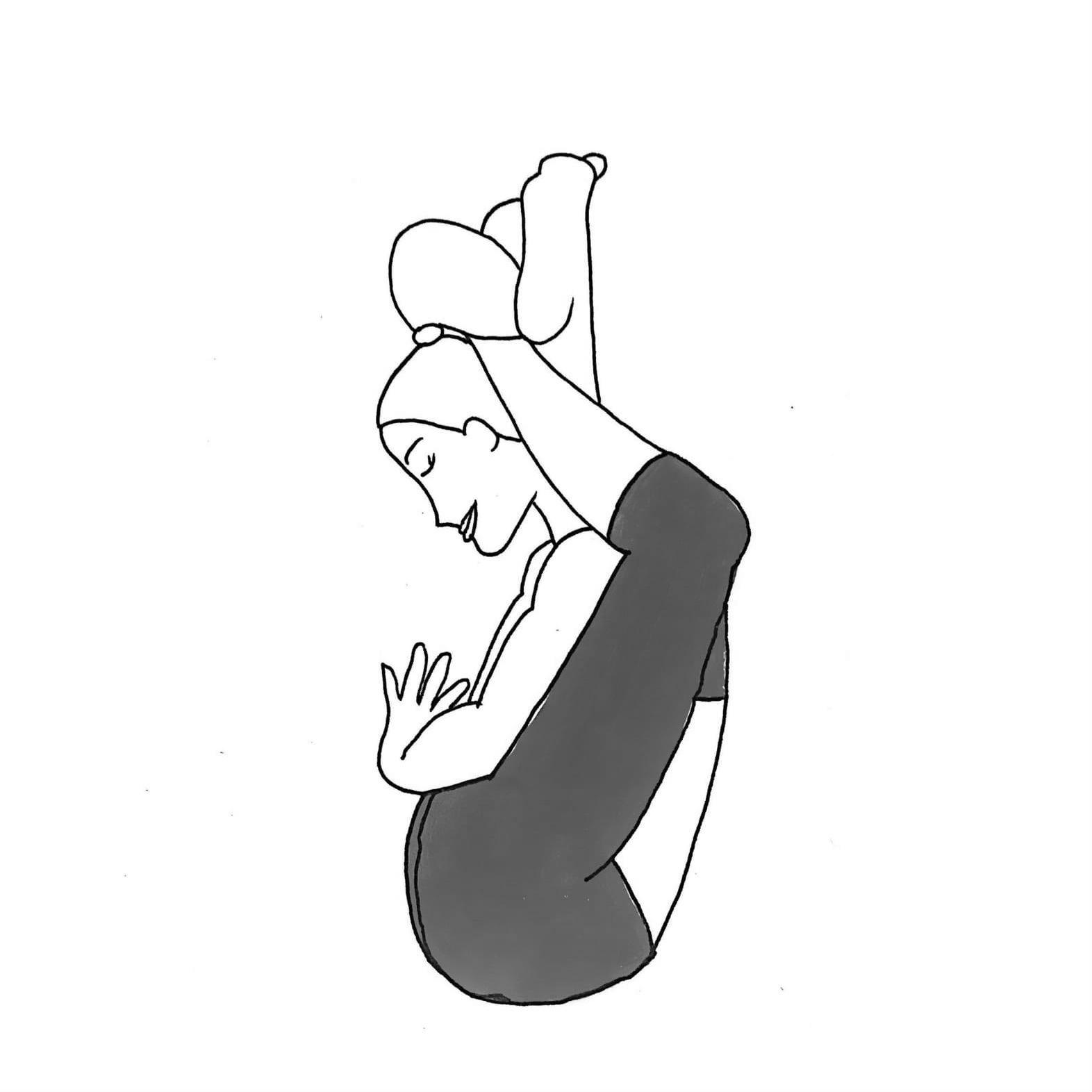 Two Feet To Head Pose A - Dwi Pada Sirsasana A