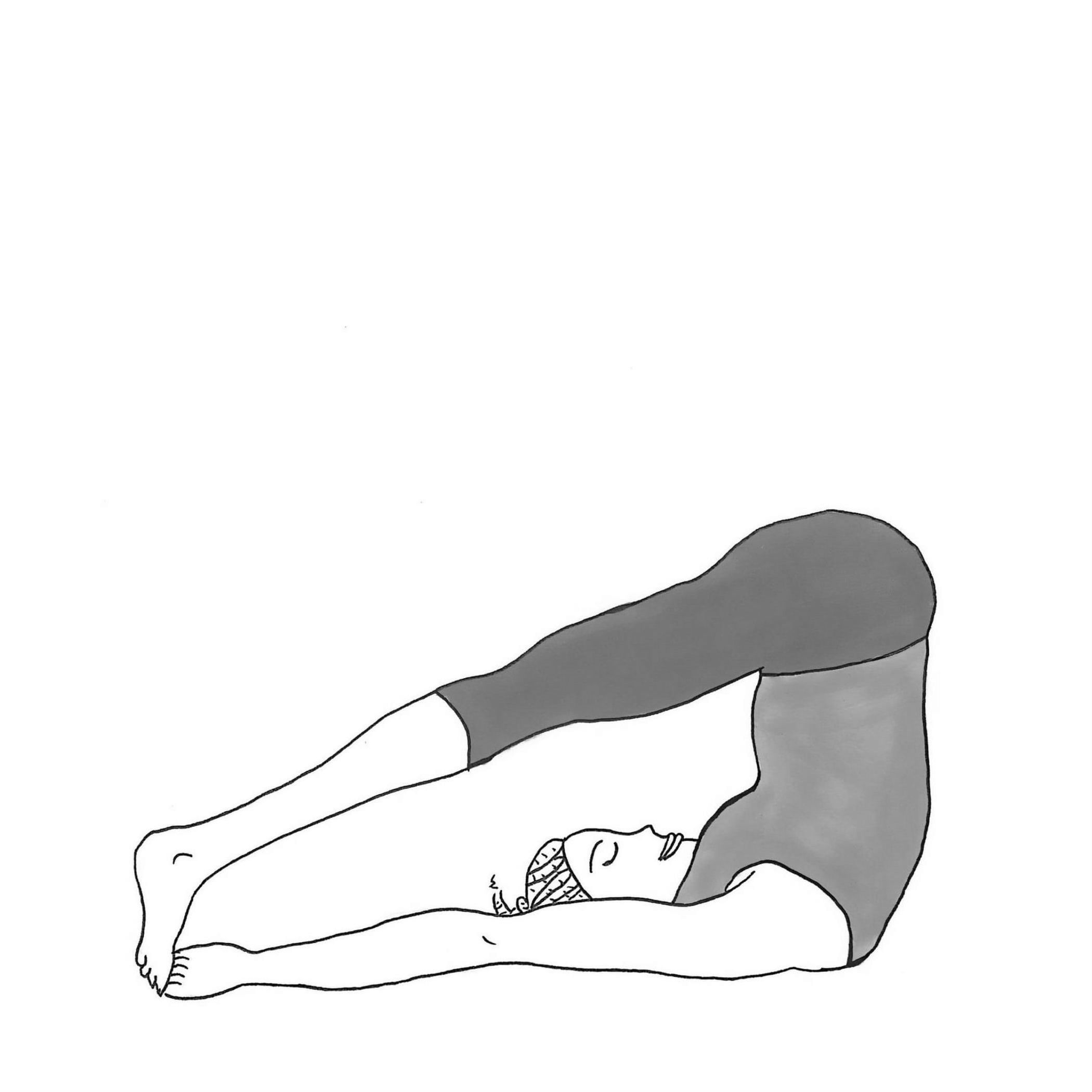 Reclining Both Feet Big Toe Pose - Supta Ubhaya Padangusthasana