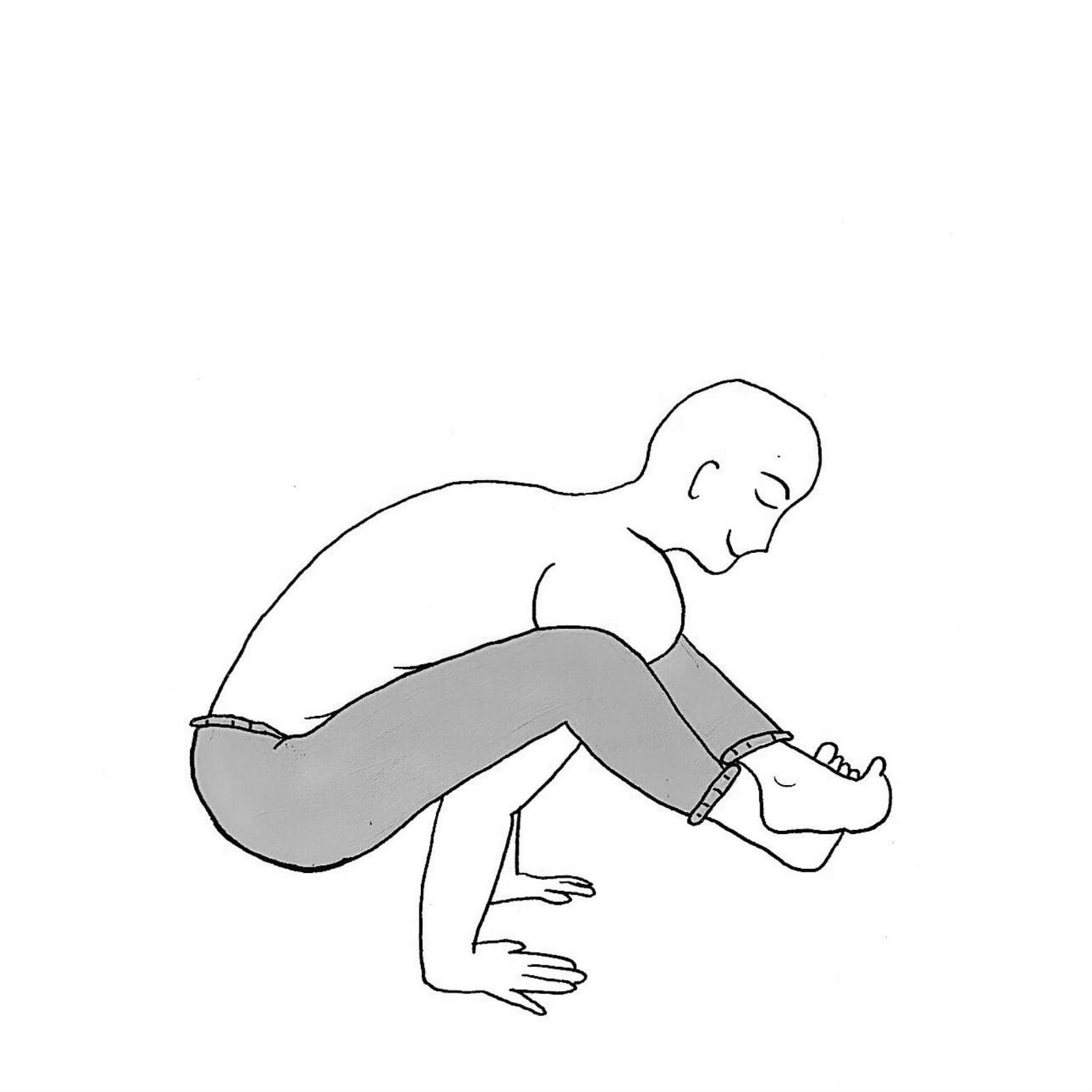 Arm Pressure Pose - Bhujapidasana