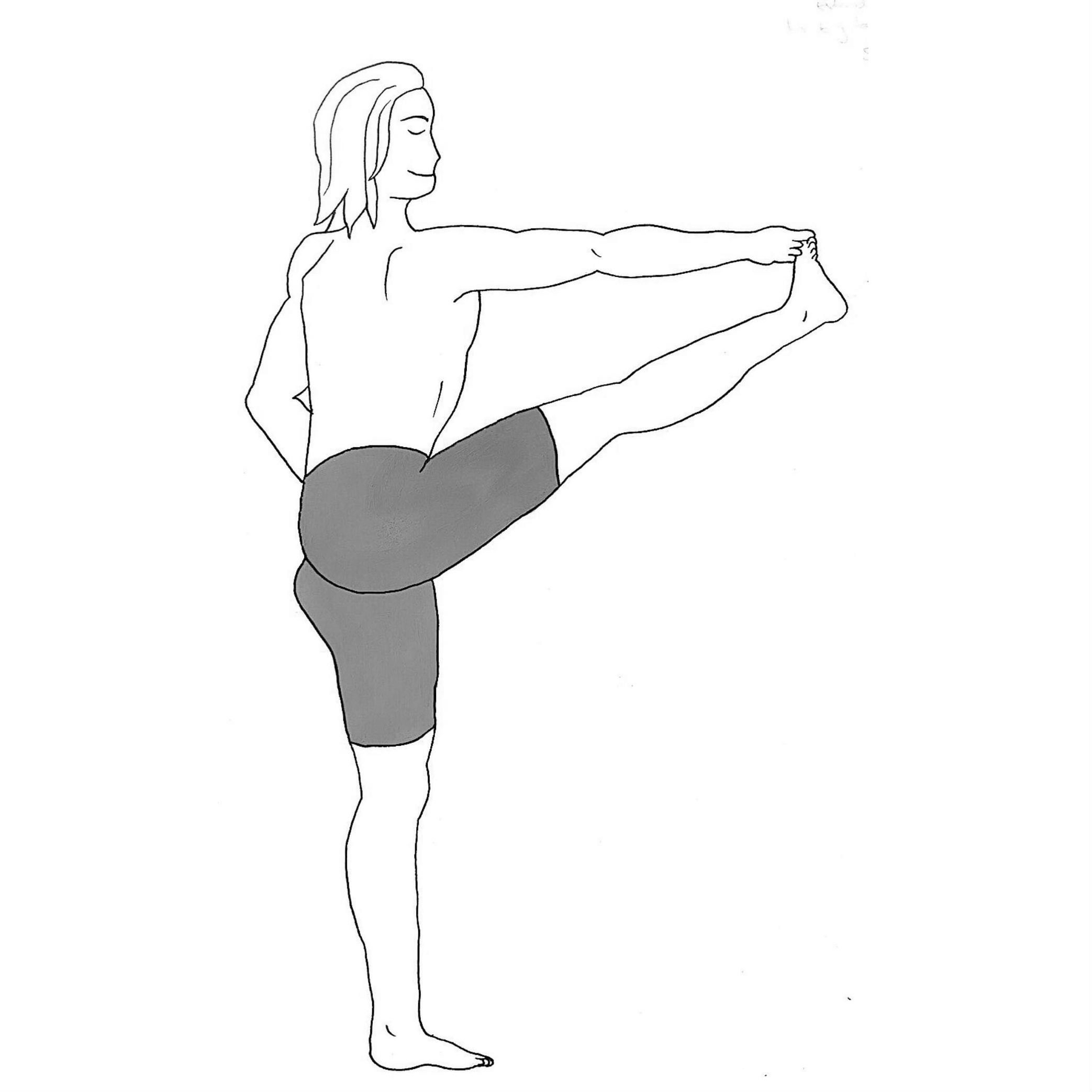 Extended Hand to Big Toe Pose A - Utthita Hasta Padangustasana A