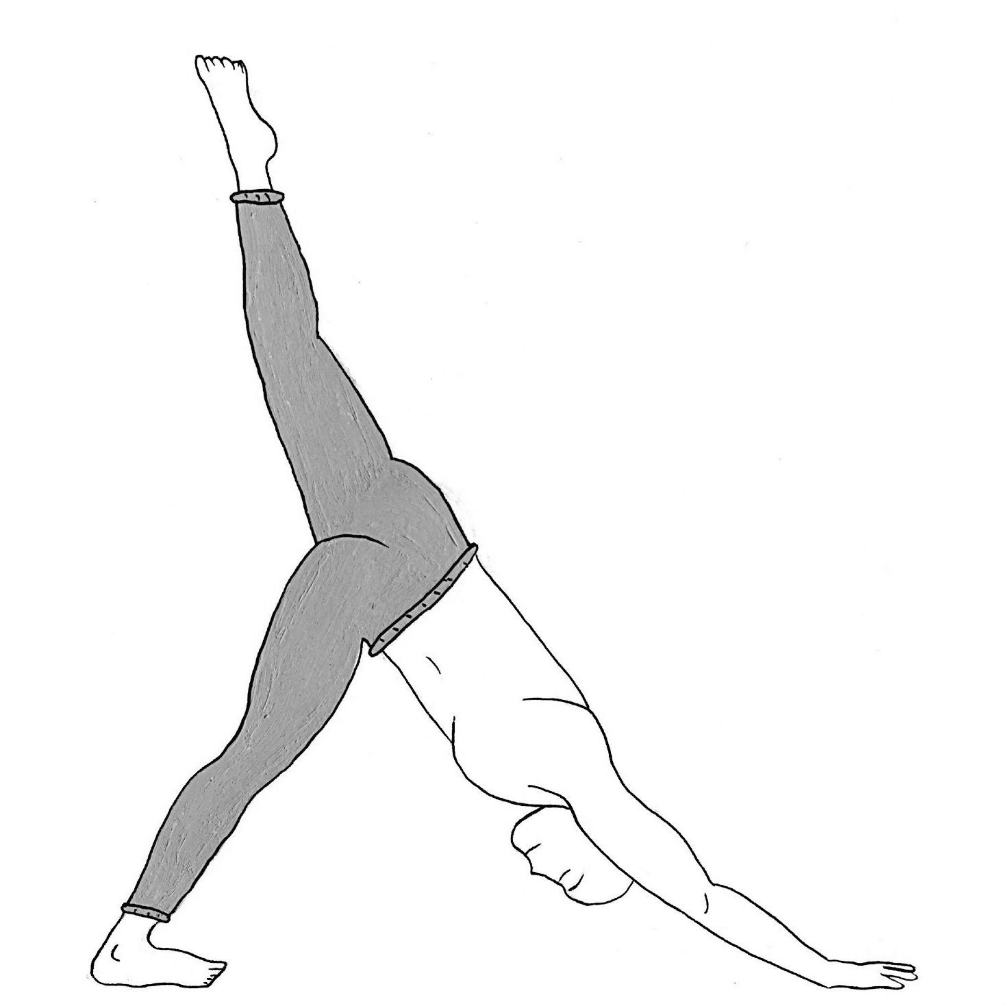 One-Legged Downward Facing Dog - Eka Pada Adho Mukha Svanasana