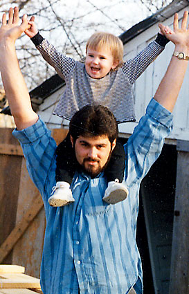 Cameron Todd Willingham with his daughter