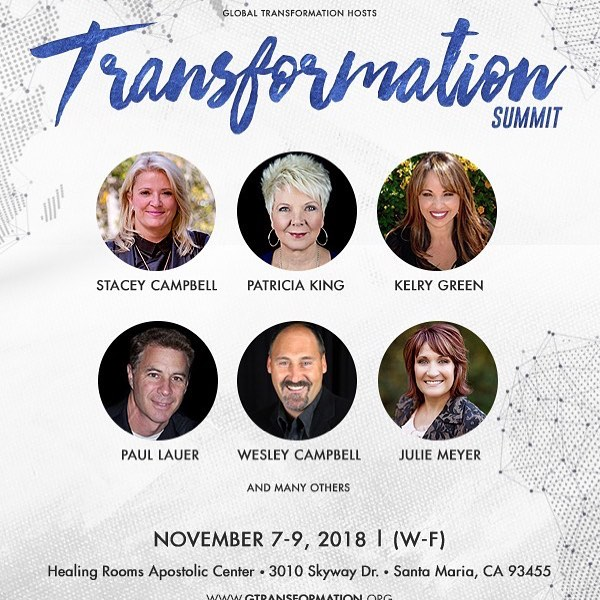 This is more than Revival! This is transformation!  This is one event you do not want to miss!  Join leaders that are gathering from all over the world to be inspired and equipped to transform your world!  Join @patriciakingpage, @kelrygreen, Paul Lauer, @juliemeyerministries , Wesley and me and more than 20 other speakers that will be coming together in Santa Maria, CA during such a pivotal time in the world!