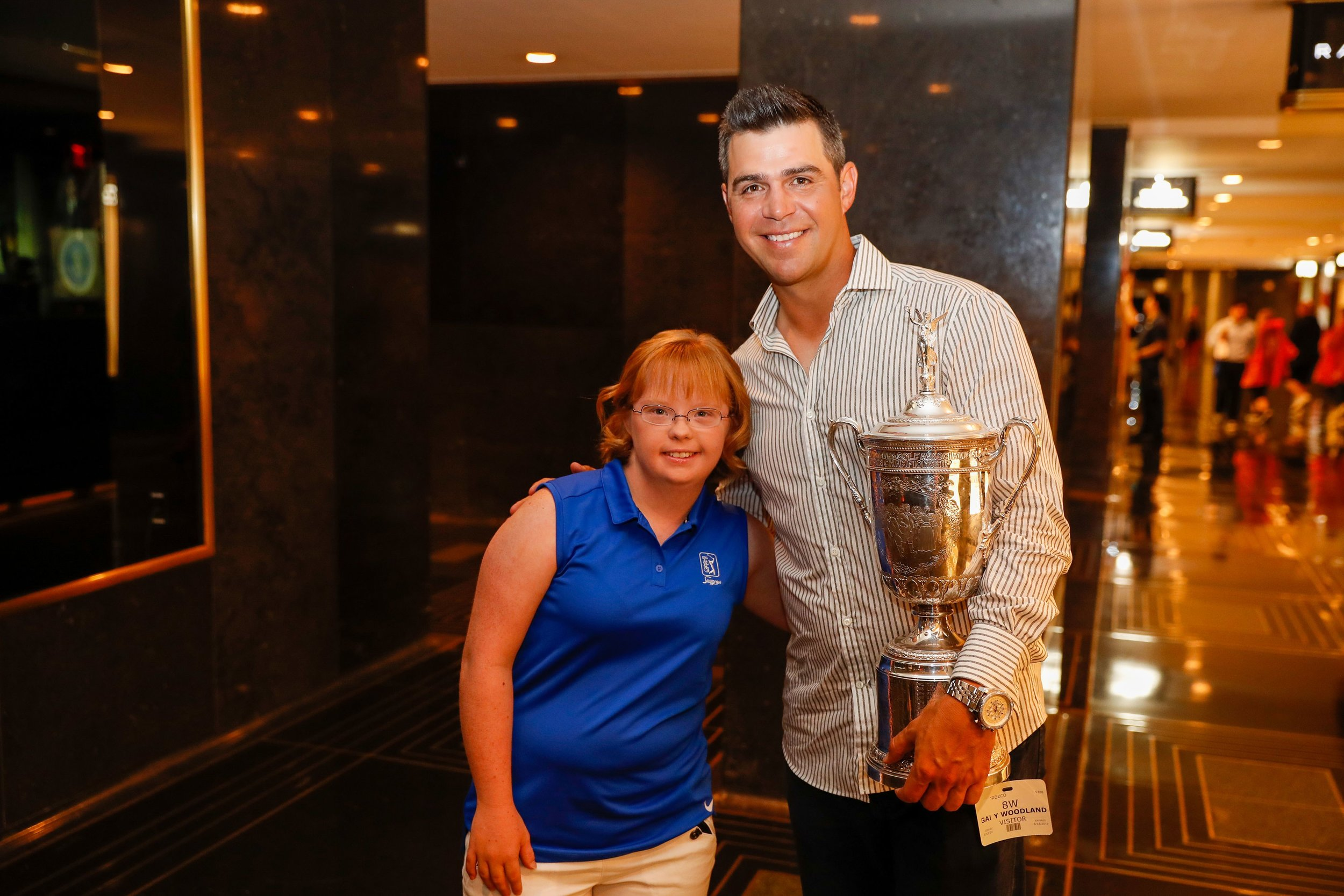 US Open champion Gary Woodland and his friend, Amy Bockerstette. (Golfweek)