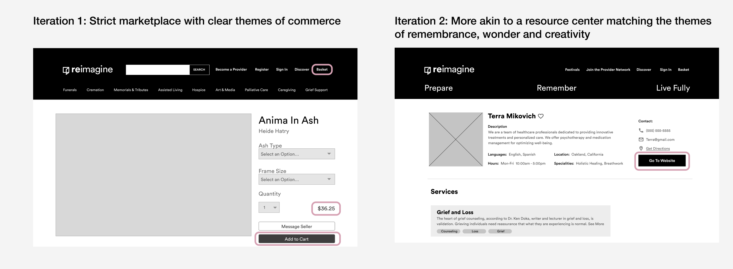 6. Iterations of provider page.jpg