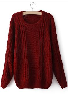 Knit Sweater Maroon- $9.99