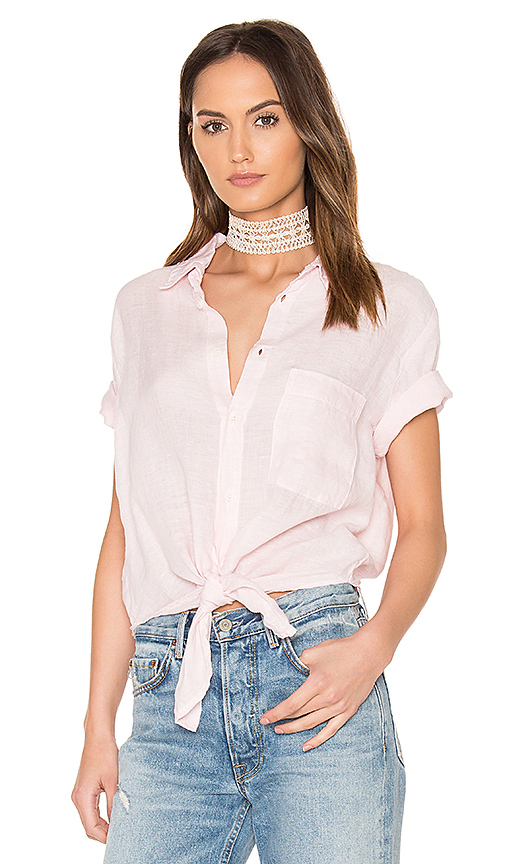 Pink Knot Up Tee- $32