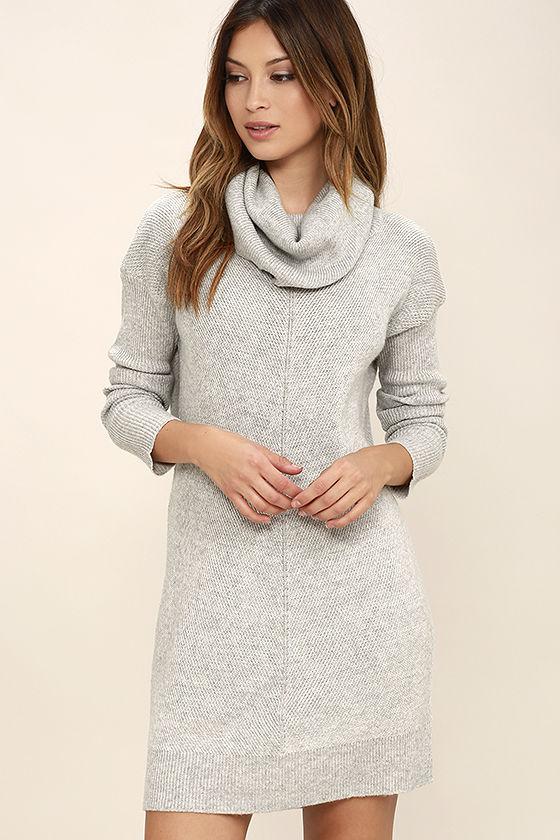 Light Grey Sweater Dress- $58