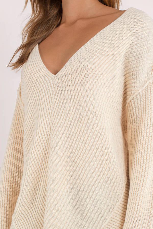 Cream Sweater- $17