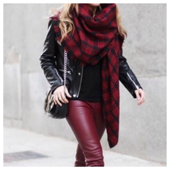 Red and Black Scarf- $20