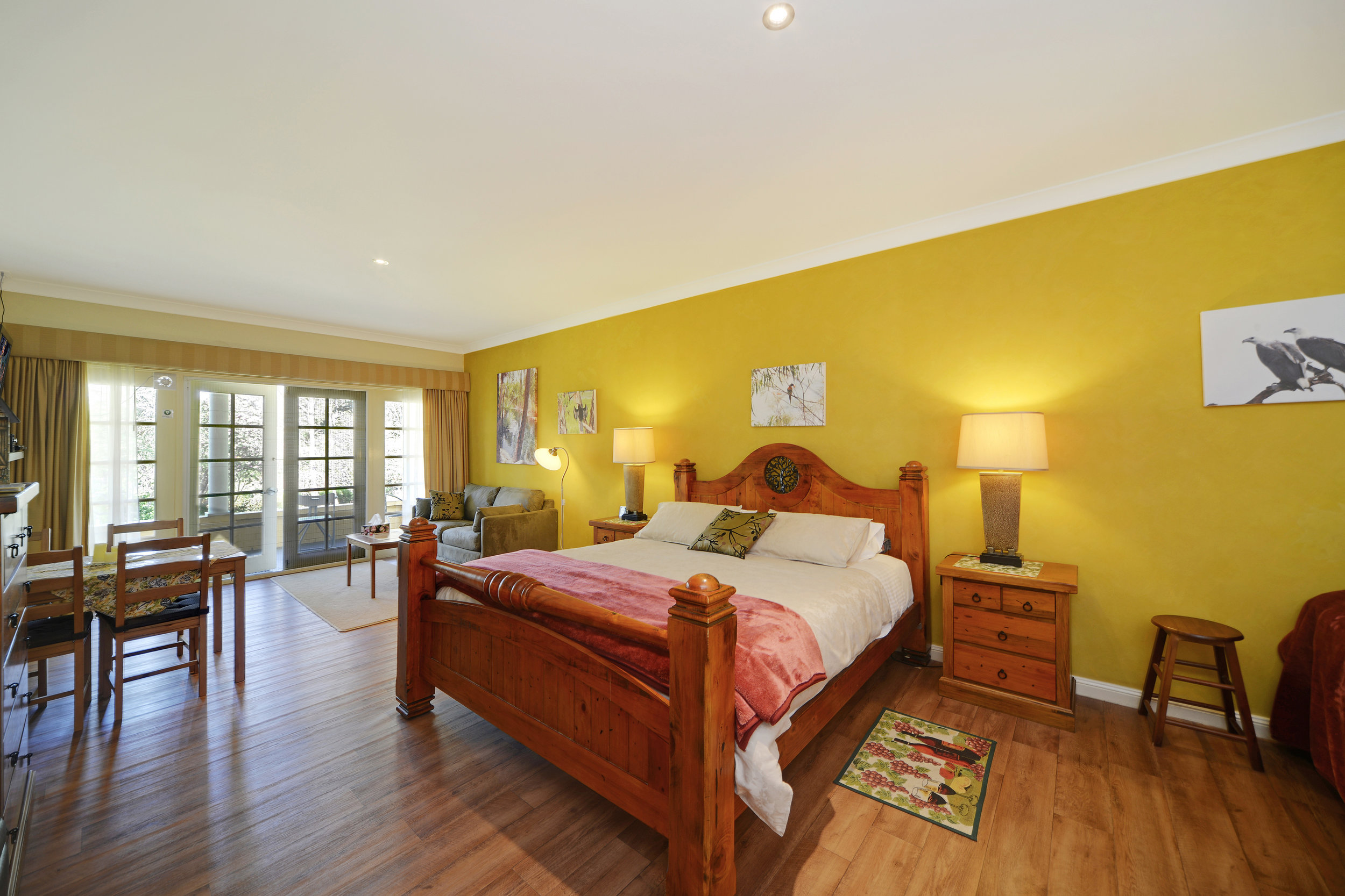 1 king bed | 1 king single bed & trundle | 1 sofa bed | max 5 people