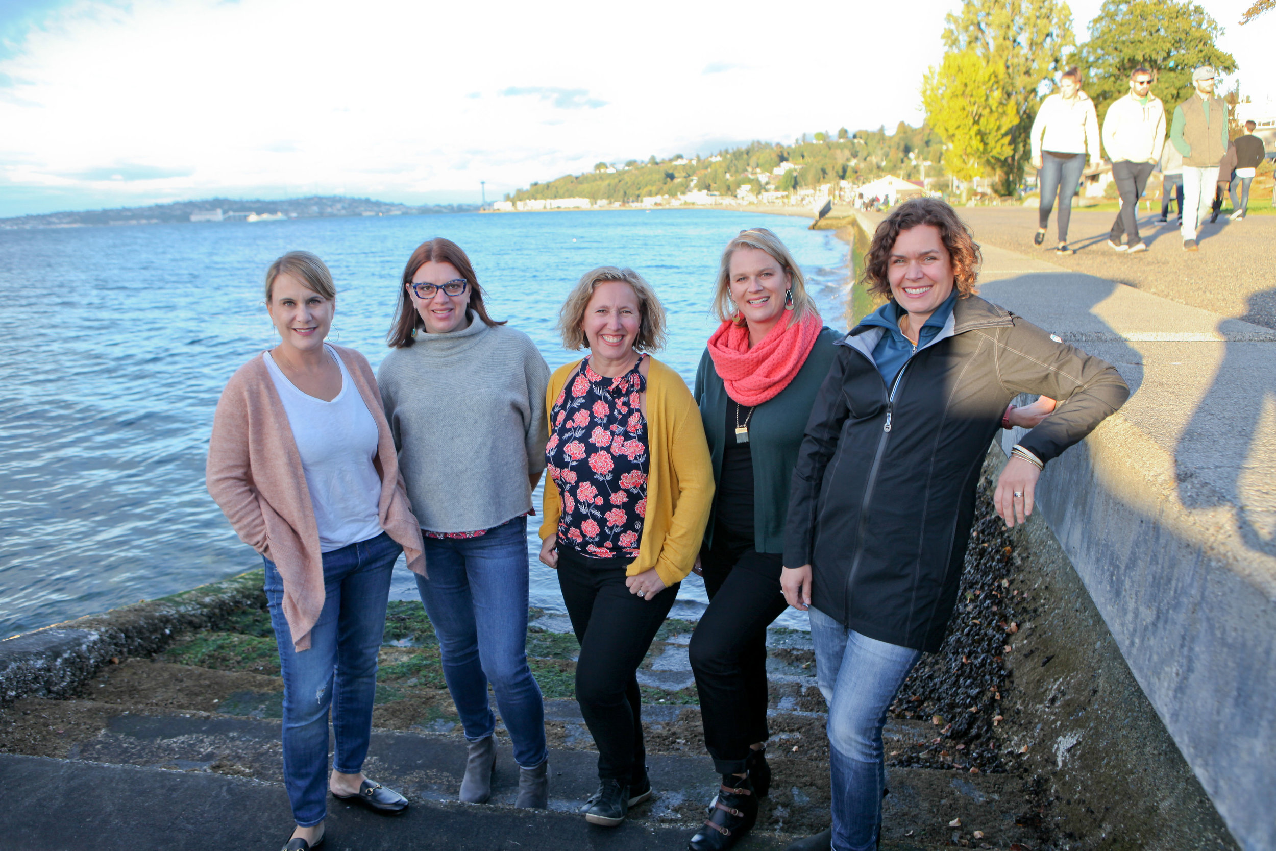 Founding members Rachel Lazar, Robin Graham, Amy Huey, Rachel Hagenson, and Kristen Corning Bedford