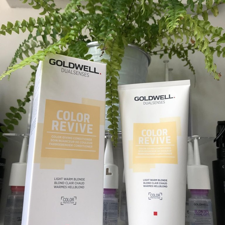 Goldwell Color Revive is a salon professional product designed to re-fresh & intensify colour whilst also creating the maximum soft & silky shine to the hair. This is a must have product to keep any colour looking and feeling just as fabulous as when you walk out our door!