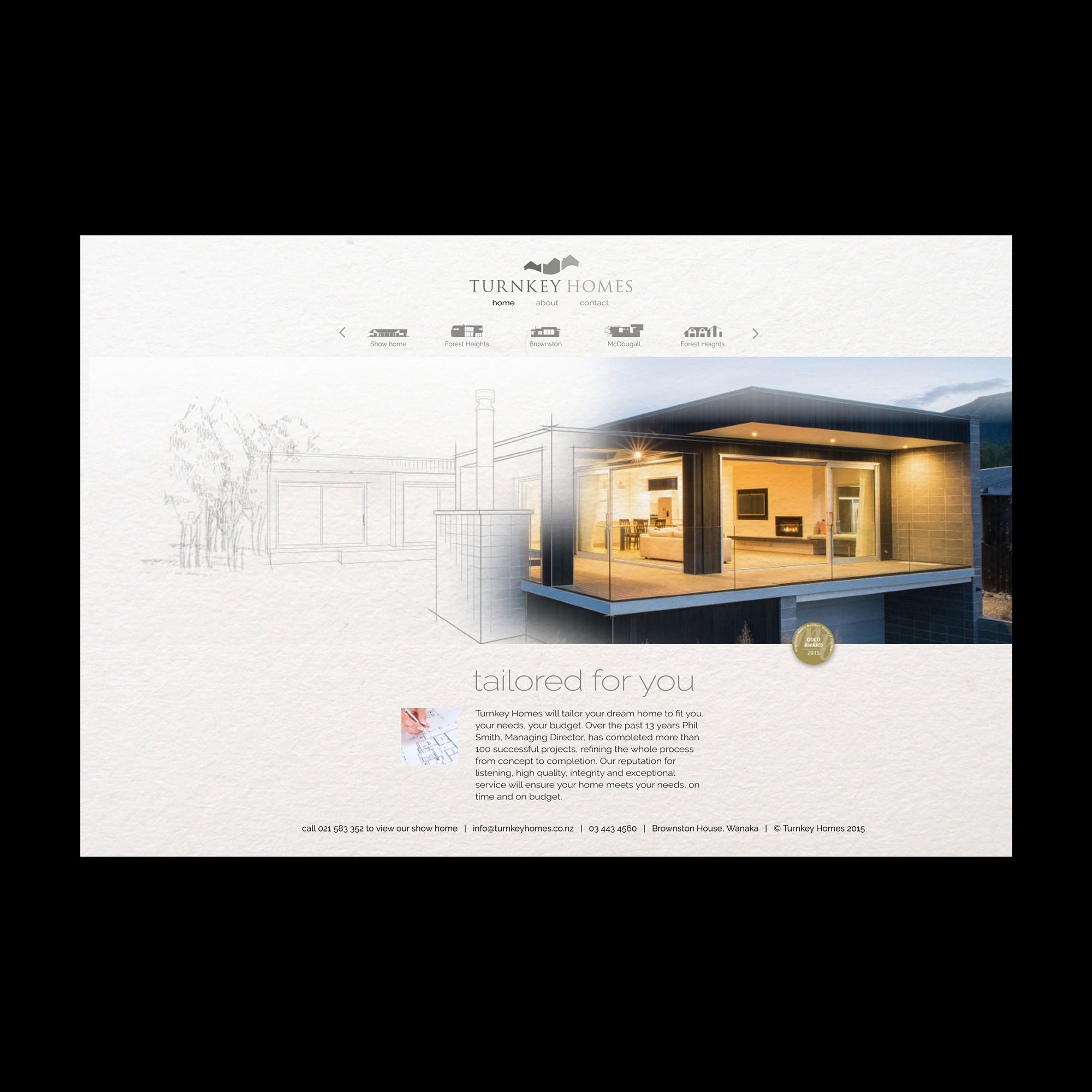 Turnkey Homes website
