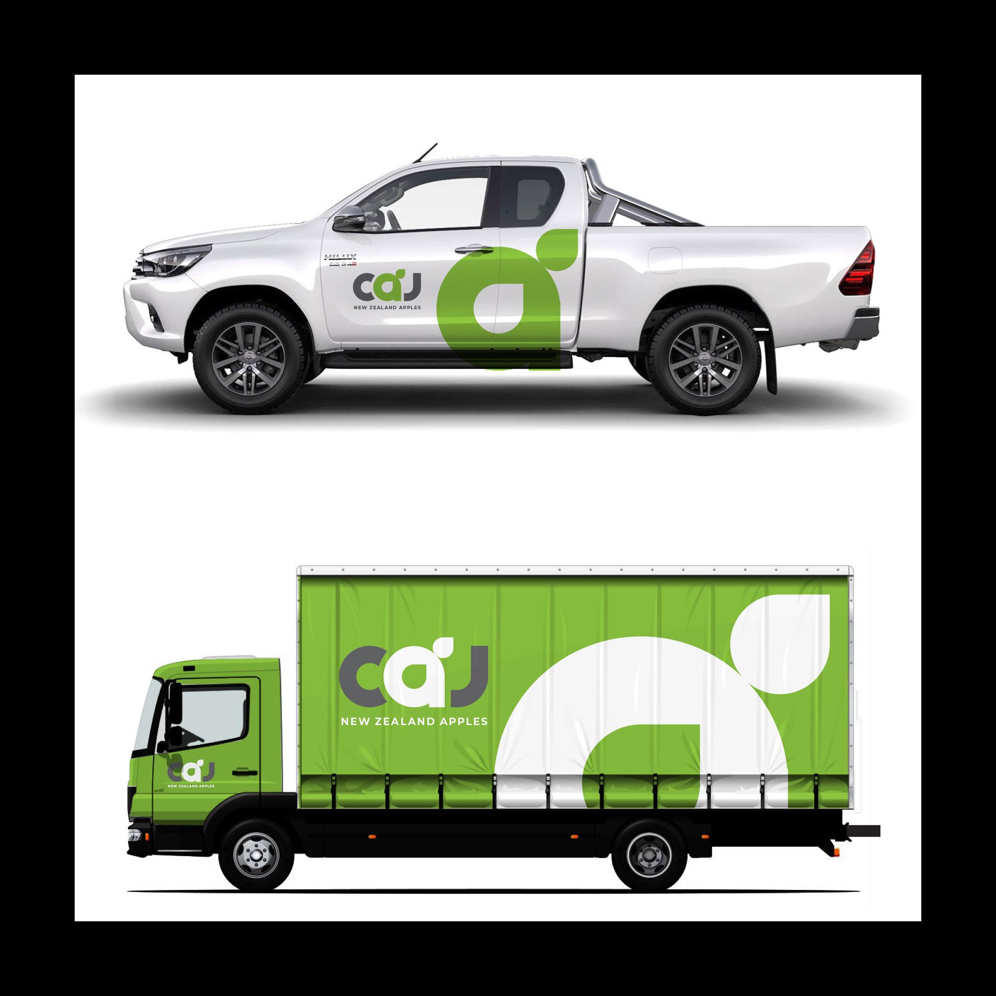 CAJ vehicle branding