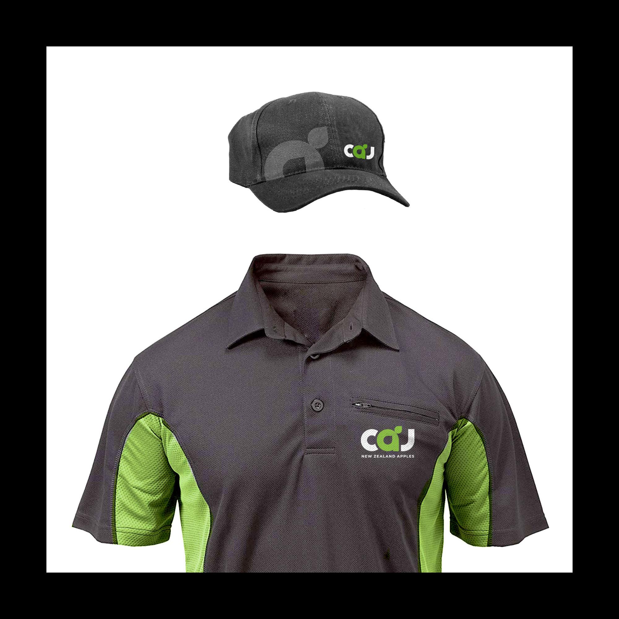 CAJ garment branding