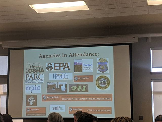 Spending the next two days in Marion County at the Pesticide Symposium.  To report a pesticide incident that has impacted people, animals, or the environment, call 503-986-6470 or 211.Your phone call will be routed 24 hours a day to 211info specialists, who will take your report.  #Oregon #marioncounty #pesticidereporting #protection #environment #oda #oha #odf #osu #epa #npic #parc #osha #safetyfirst
