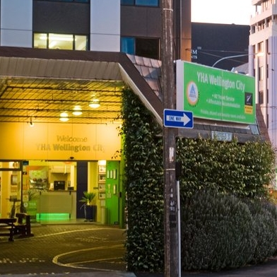 """YHA WELLINGTON BACKPACKERS $   Rated """"Wellington's best hostel"""" by Lonely Planet in 2017.Ultra clean, modern, bright, fun and friendly.  Beds from $31 per night.  650m from the Michael Fowler Centre."""