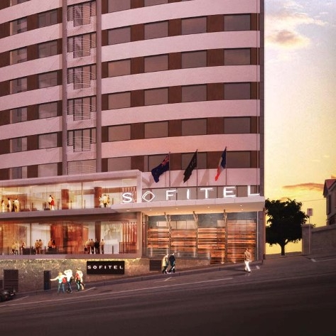 SOFITEL $$$   Opened in 2016, with French inspired design, the Sofitel is one of Wellington's most luxurious hotels.  Rooms from $207 per night.  1.4km from the Michael Fowler Centre.