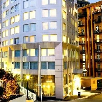 BOLTON HOTEL WELLINGTON $$$   A polished, modern hotel with an impressive and popular location - right by the Beehive.  Rooms from $245 per night.  1.4km from the Michael Fowler Centre.