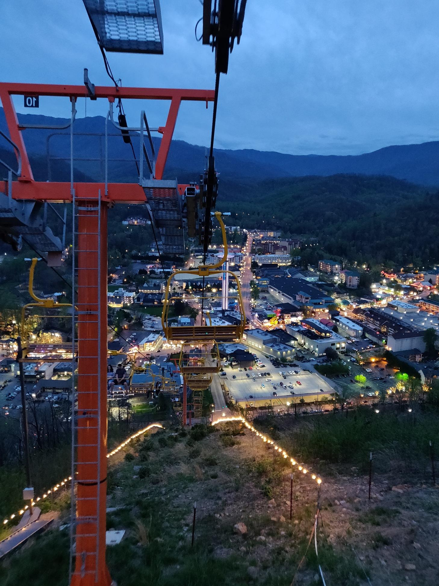 a view from the SkyLift in Gatlinburg