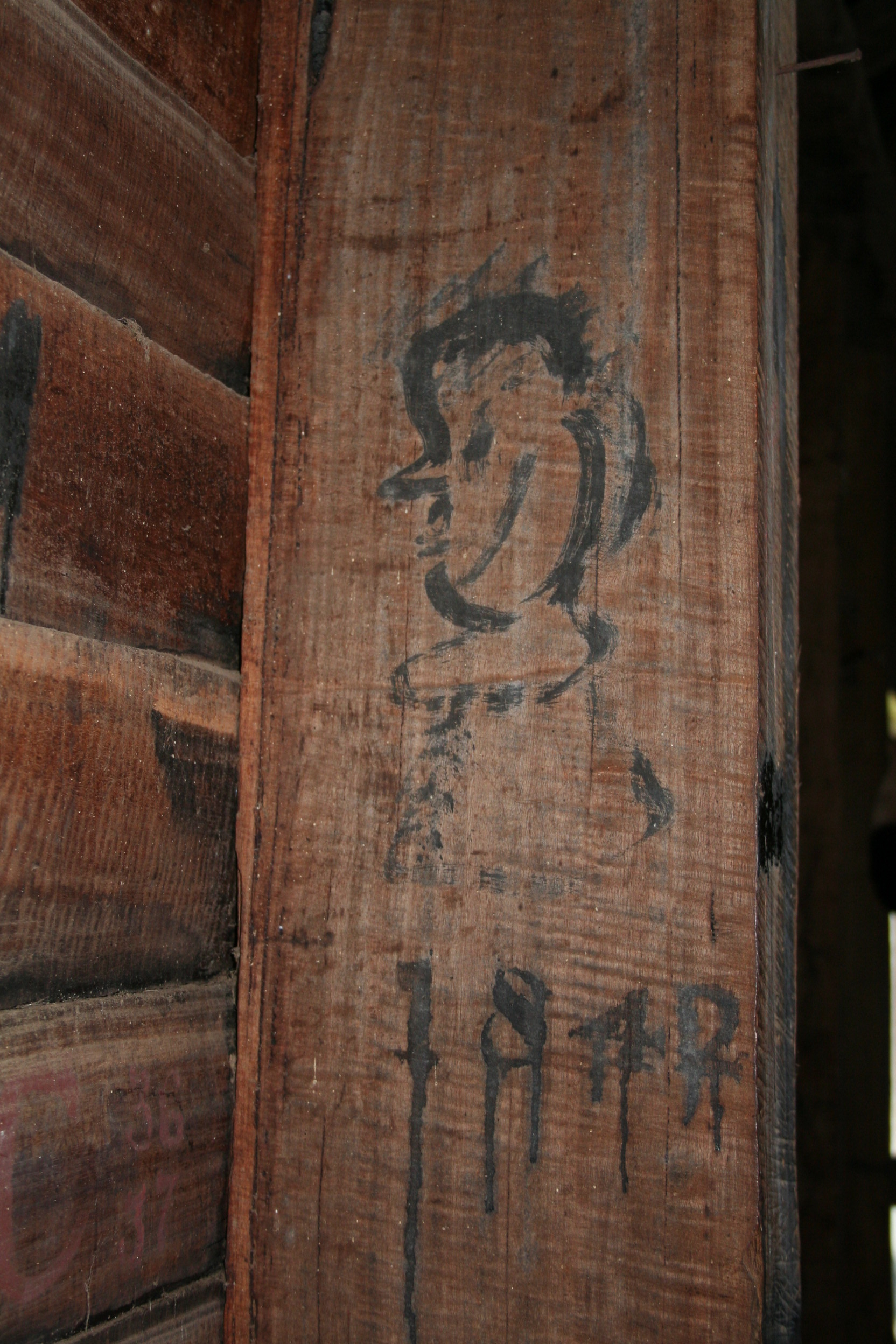 Woolmers Estate - Woolshed c.1820 - Graffiti 05 - one of the oldest and grandest in Australia.jpg