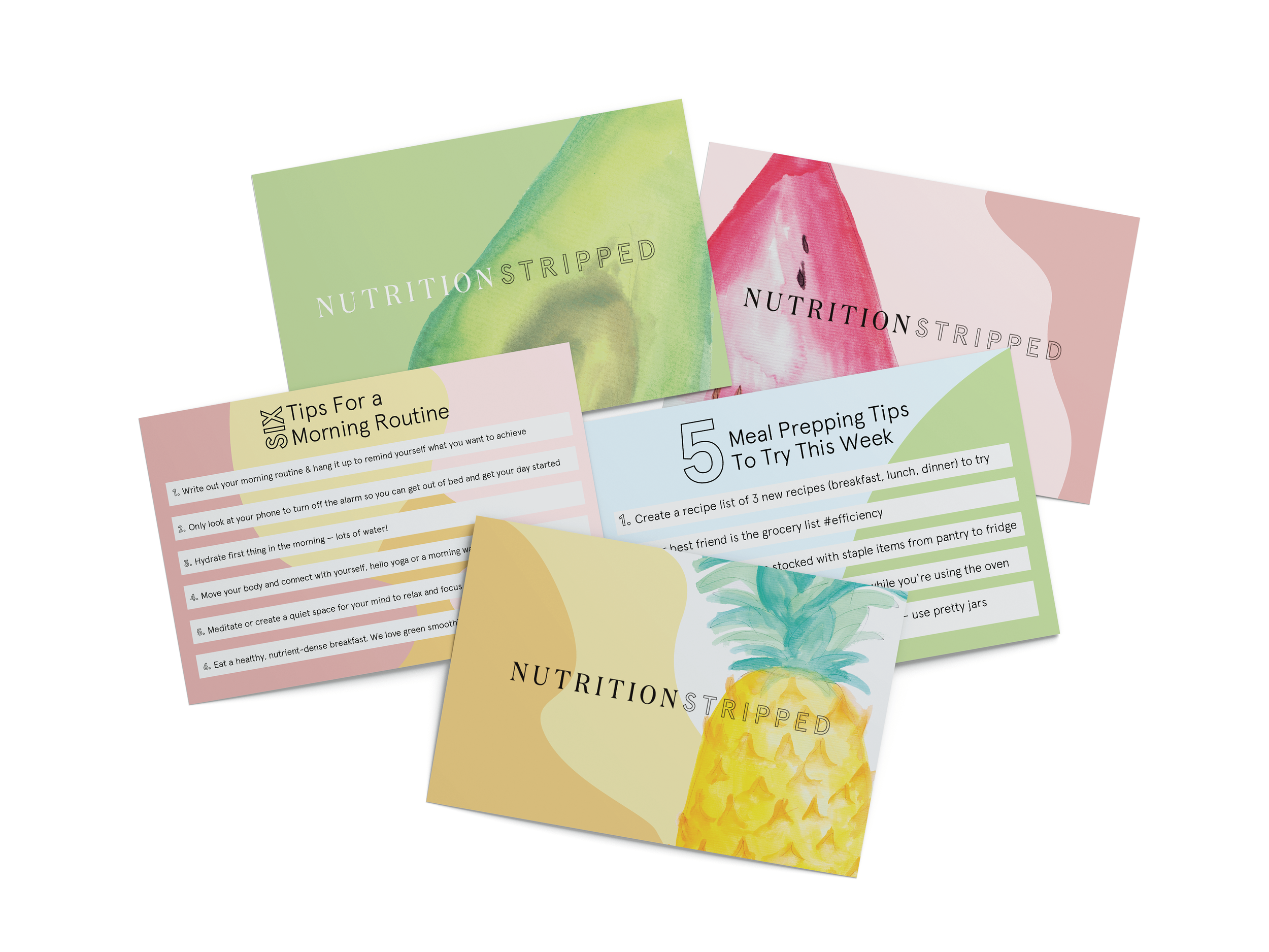 nutrition stripped thank you cards