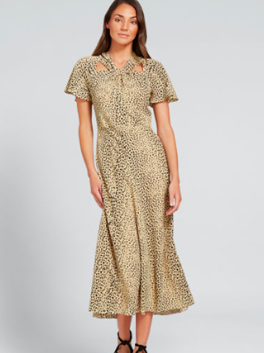 Topshop animal print midi shirt dress, $99