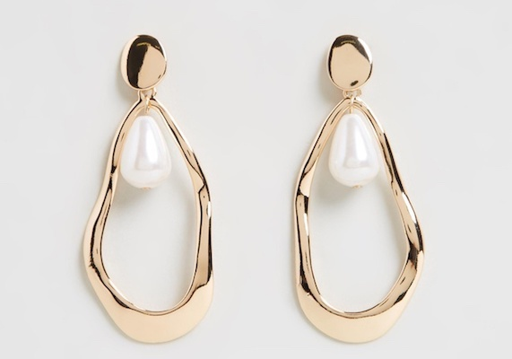ATMOS&HERE organic pearly drop earrings, $30