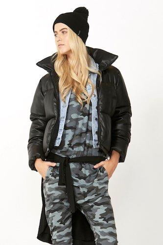Decjuba  Luxe PU Puffer Jacket,  $149.95